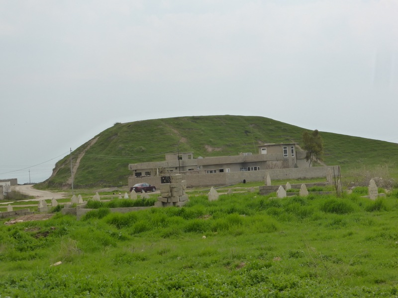 Hill 371 as seen from the adjacent village.