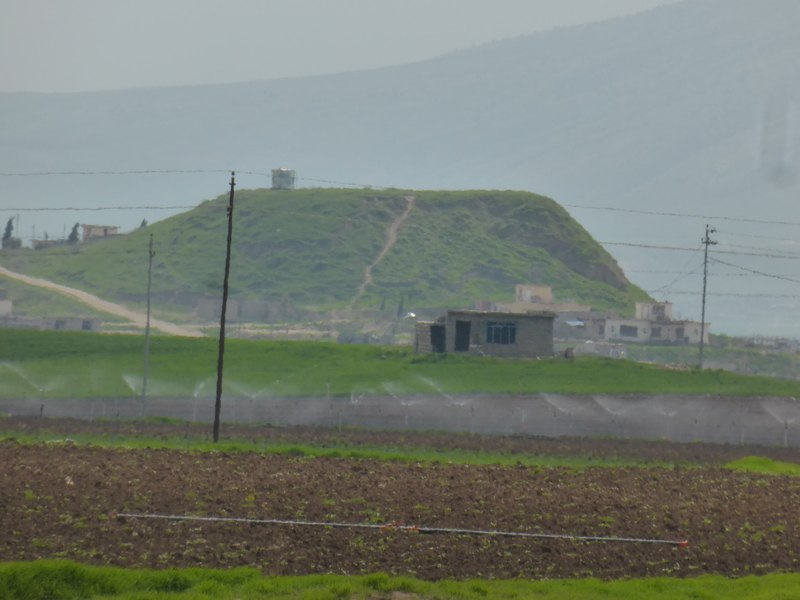 A zoomed in view of Hill 372 as seen from Hill 371.